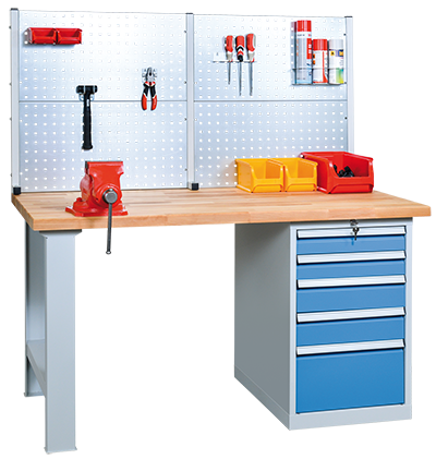 Professional assembled workbench example